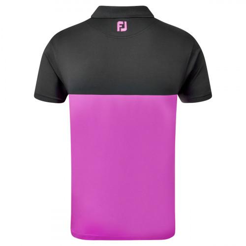 FootJoy Lisle Engineered Block Mens Golf Polo Shirt reverse