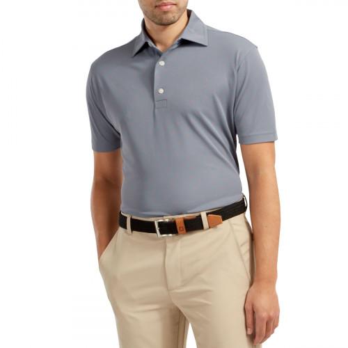 FootJoy Stretch Pique FJ Print Mens Golf Polo Shirt reverse