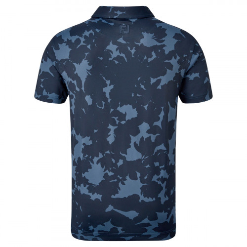 FootJoy Pique Camo Floral Print Mens Golf Polo Shirt reverse
