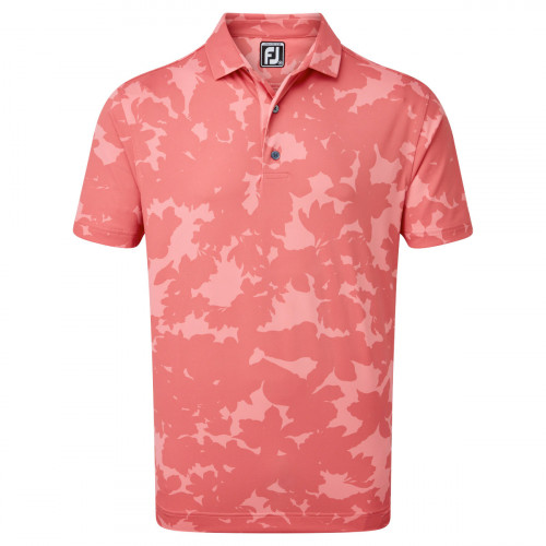 FootJoy Pique Camo Floral Print Mens Golf Polo Shirt