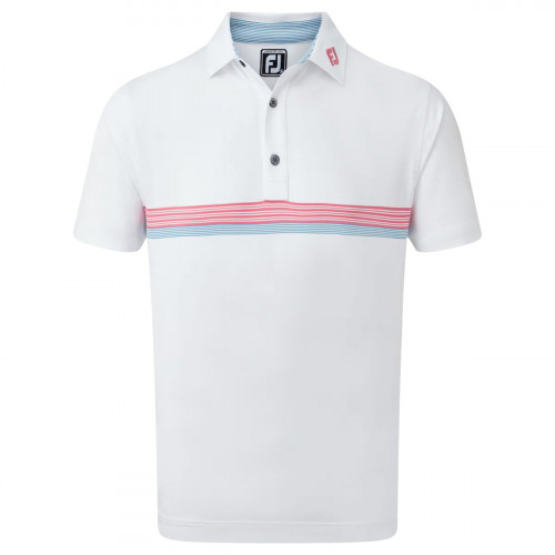 FootJoy Lisle Engineered Chestband Mens Golf Polo Shirt