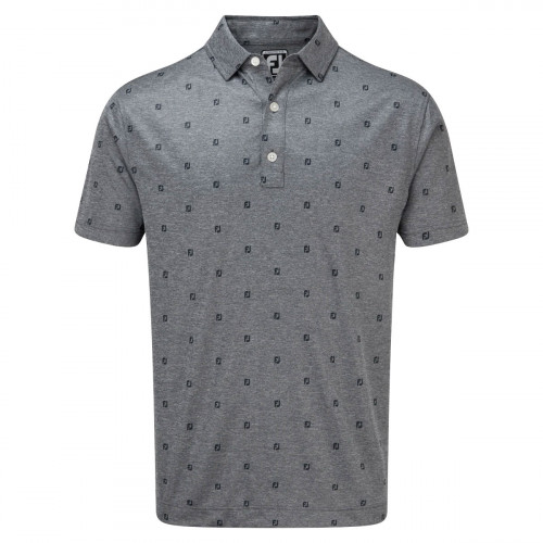 FootJoy Smooth Pique FJ Tonal Print Mens Golf Polo Shirt