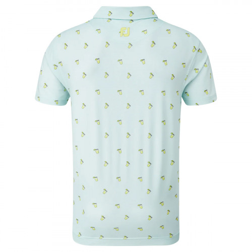 FootJoy Lisle Cocktail Print Mens Golf Polo Shirt reverse