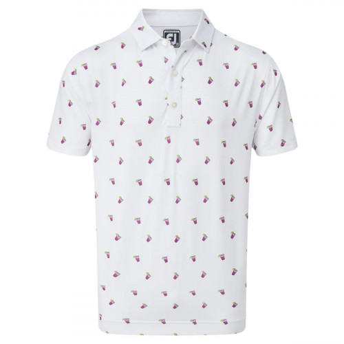 FootJoy Lisle Cocktail Print Mens Golf Polo Shirt