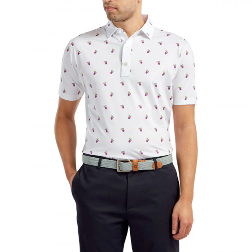 FootJoy Lisle Cocktail Print Mens Golf Polo Shirt