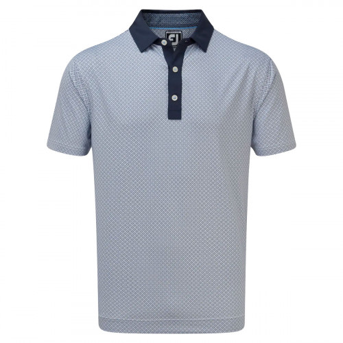 FootJoy Lisle Foulard Print Mens Golf Polo Shirt