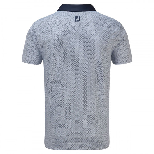 FootJoy Lisle Foulard Print Mens Golf Polo Shirt reverse