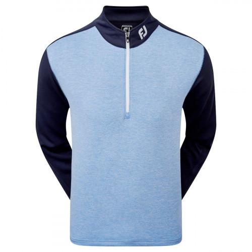 FootJoy Heather Colour Block Chill-Out Mens Golf Pullover
