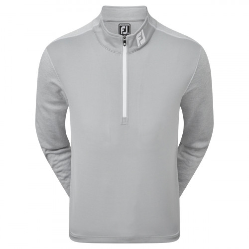 FootJoy Tonal Heather Chill-Out Mens Golf Pullover (Grey)