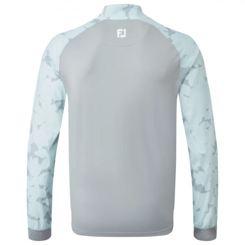 FootJoy Camo Floral Half Zip Mens Golf Mid Layer reverse