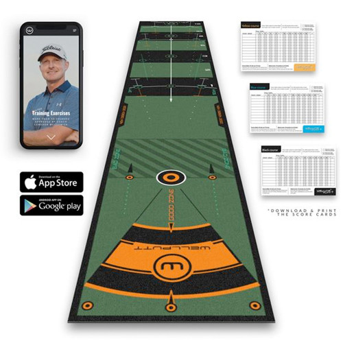 Wellputt 3 Meter High Speed Practice Putting Mat