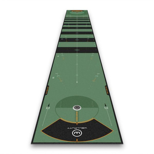 Wellputt 8 Meter High Speed Practice Putting Mat reverse