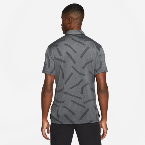 Nike Golf Dry Vapor Line Jacquard Polo Shirt  - Dark Grey Smoke