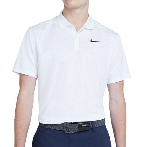 Nike Golf Dry Victory Print Polo Shirt (White)