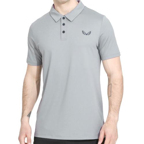 Castore Performance Air Pique Mens Golf Polo Shirt  - Grey