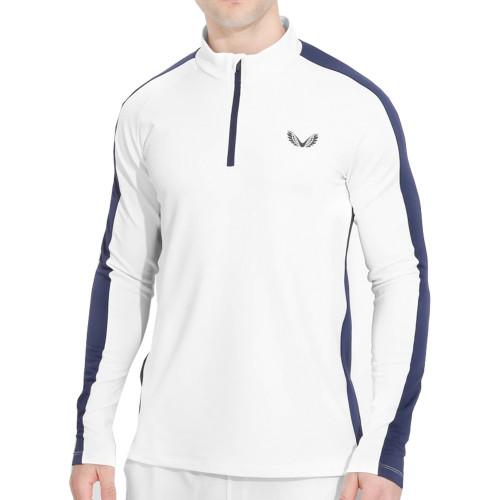Castore Jersey 1/4 Zip Mens Golf Pullover (White)
