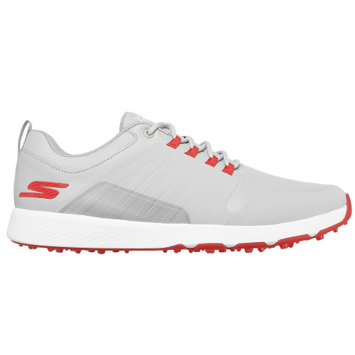 Skechers Go Golf Elite 4 Victory Mens Spikeless Golf Shoes (Grey/Red)