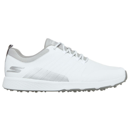 Skechers Go Golf Elite 4 Victory Mens Spikeless Golf Shoes (White/Grey)