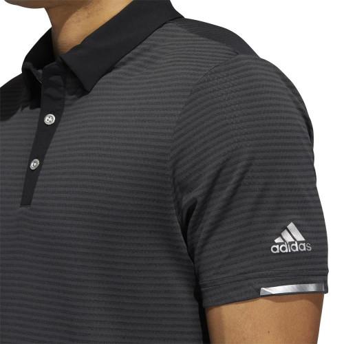 Adidas Golf HEAT.RDY Microstripe Golf Polo Shirt reverse