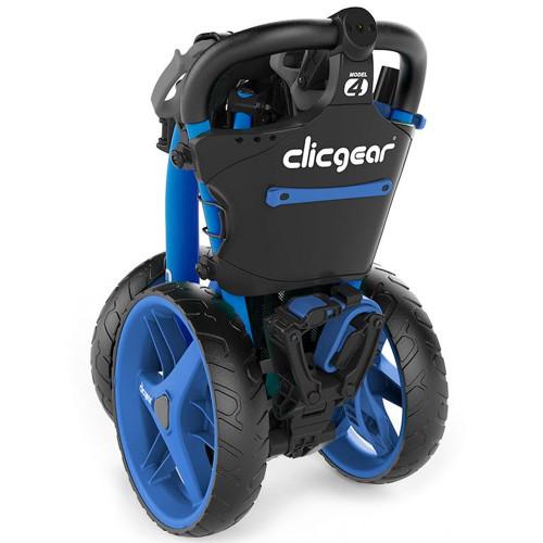 ClicGear Model 4.0 Golf Trolley 3-Wheel Push Cart + Umbrella Holder, Drinks Holder reverse