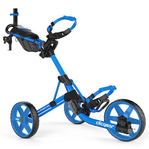 ClicGear Model 4.0 Golf Trolley 3-Wheel Push Cart + Umbrella Holder, Drinks Holder