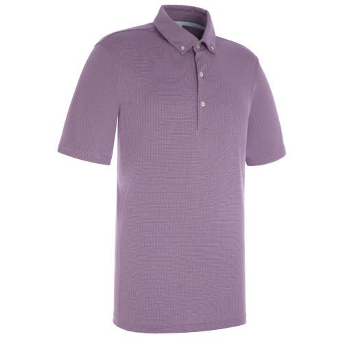 ProQuip Golf Mens Pro Tech Mini Jacquard Polo Shirt