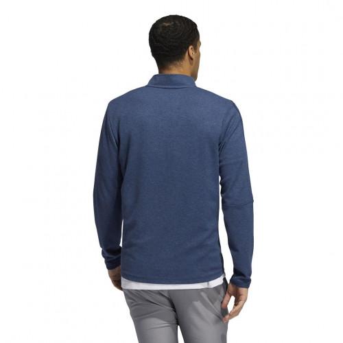adidas Golf 3-Stripes 1/4 Zip Layering Sweatshirt reverse