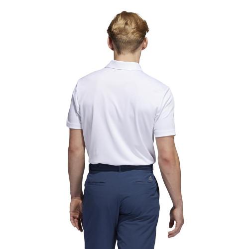 adidas Golf Chest Print Primegreen UV 50+ Polo Shirt reverse