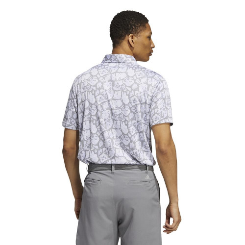 adidas Golf Cobblestone-Print Recycled Content Polo Shirt reverse