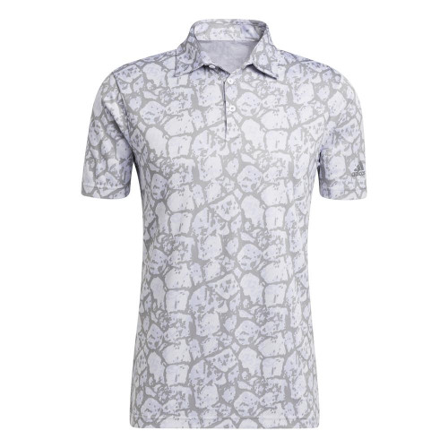adidas Golf Cobblestone-Print Recycled Content Polo Shirt