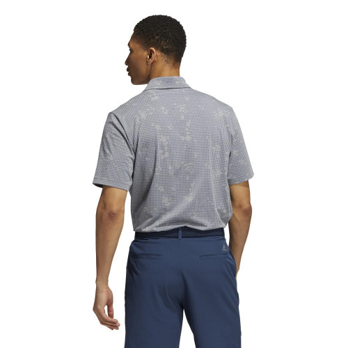 adidas Golf Night Camo-Print Primegreen Polo Shirt reverse