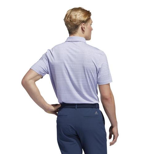 adidas Golf Ultimate365 Allover Print Primegreen Polo Shirt reverse