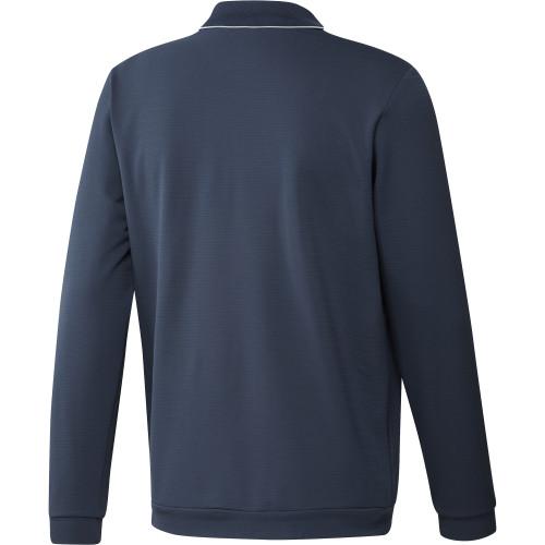 adidas Golf Thermal Primegreen Long Sleeve Polo Shirt reverse