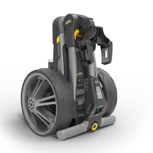 PowaKaddy CT6 GPS Gun Metal Electric Golf Trolley 18 Hole Lithium Battery / NEW 2021 reverse