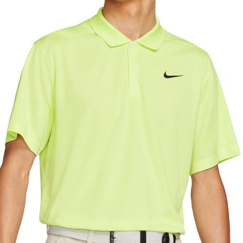 Nike Dry-Fit Victory Solid Golf Polo Shirt (Light Lemon Twist)