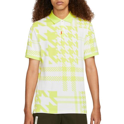 Nike Golf The Plaid Mash Mens Polo Shirt (Light Lemon Twist)