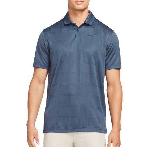 Nike Golf Dri-Fit Vapor Texture Polo Shirt (Thunder Blue)
