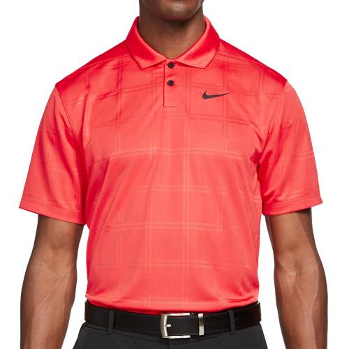 Nike Golf Dri-Fit Vapor Texture Polo Shirt (Track Red)