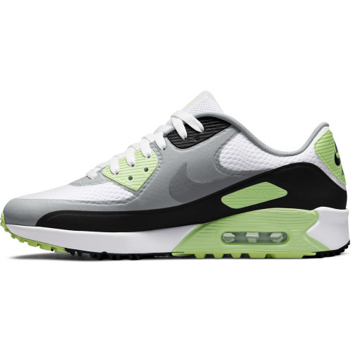 Nike Air Max 90 G Spikeless Waterproof Golf Shoes (White/Black/Light Smoke/Particle Grey)