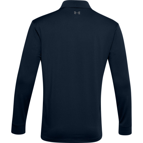 Under Armour Mens Performance Textured Long Sleeve Polo Shirt reverse