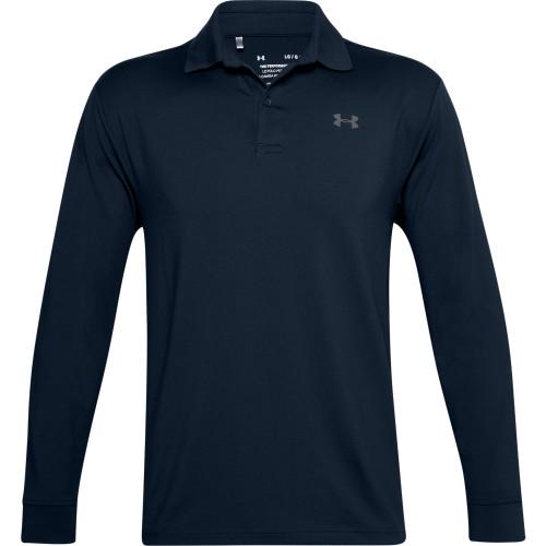Under Armour Mens Performance Textured Long Sleeve Polo Shirt