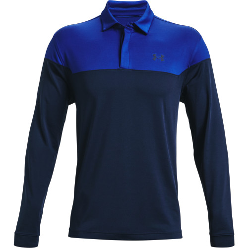 Under Armour Mens Long Sleeve Playoff Novelty Golf Polo Shirt
