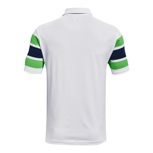 Under Armour Mens Playoff Polo Block Stripe reverse