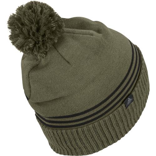 adidas Golf Mens Font Pom Beanie Thermal Warm Winter Hat reverse