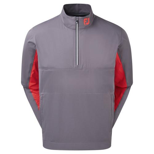 FootJoy HydroKnit 1/2 Zip Waterproof Jacket (Charcoal/Bright Red/White)