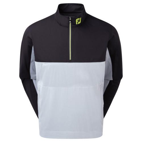FootJoy HydroKnit 1/2 Zip Waterproof Jacket (Black/Grey)