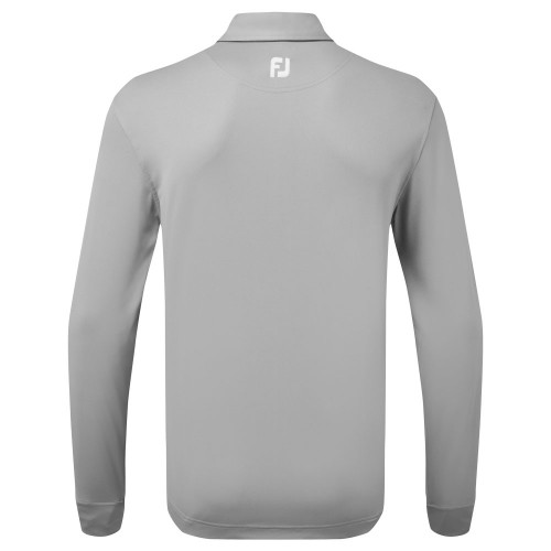 FootJoy Thermolite Long Sleeved Smooth Pique Polo Shirt reverse