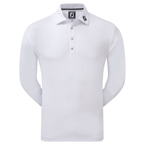FootJoy Thermolite Long Sleeved Smooth Pique Polo Shirt