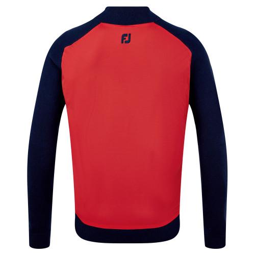 FootJoy Wool Blend Tech Full Zip Golf Sweater reverse