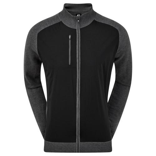 FootJoy Wool Blend Tech Full Zip Golf Sweater